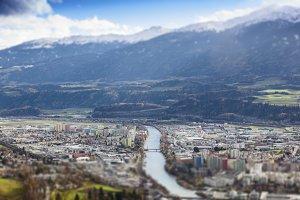 Innsbruck. Tilt shift