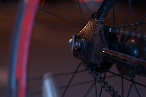 Single Speed bicycle at night