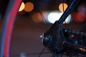 Single Speed bicycle at night