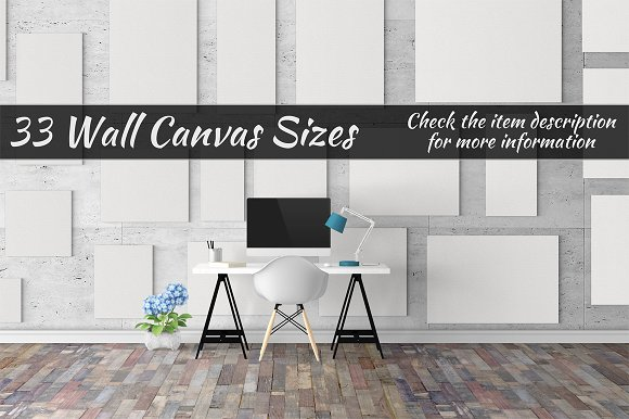 Canvas Mockups Vol 327 in Print Mockups - product preview 1