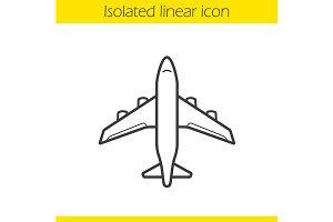 Plane icon. Vector