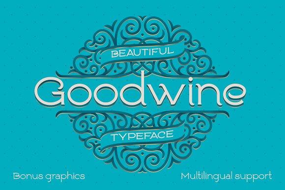 Goodwine Font Label Mockup