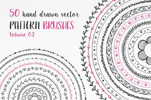 Hand Drawn Pattern Brushes Vol. 02