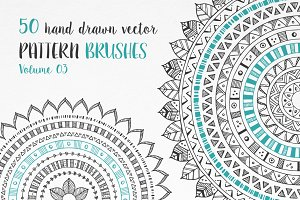 Hand Drawn Pattern Brushes Vol. 03