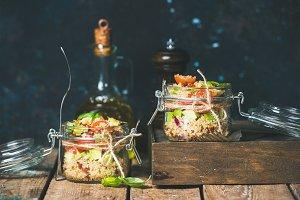 Homemade quinoa salad