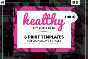 Healthy Mind Brochure Template Pack