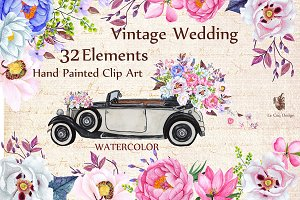 SALE ROMANTIC WEDDING CLIPART