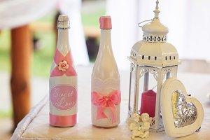 Champagne behind lantern