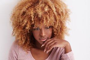 black blonde woman