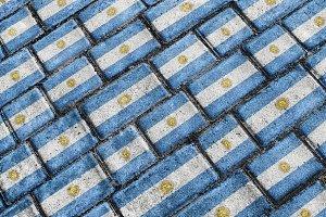 Argentina Flag Urban Grunge Pattern