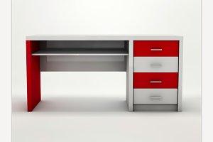 Minimalistic designed desk.