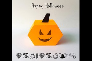DIY Halloween Favor - 3d papercrafts