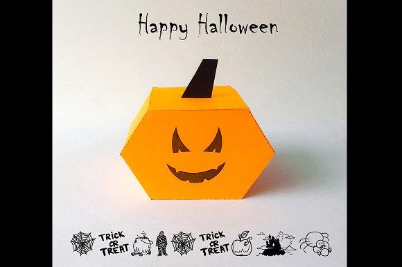 DIY Halloween Favor - 3d papercrafts