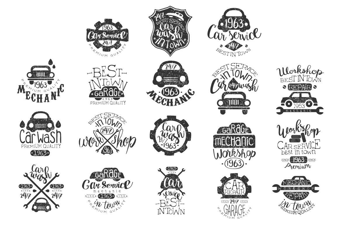 Mechanic Workshop Vintage Stamp ~ Logo Templates
