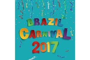 Brazil carnival 2017 background.