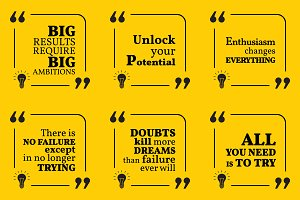 Nine motivational quotes. Set 3/55