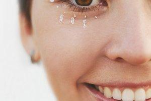 Close up girl portrait