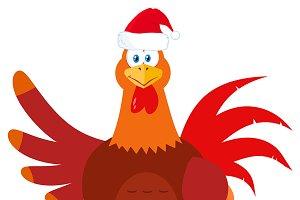 Santa Rooster Bird