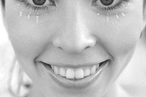 Black and white smiling girl