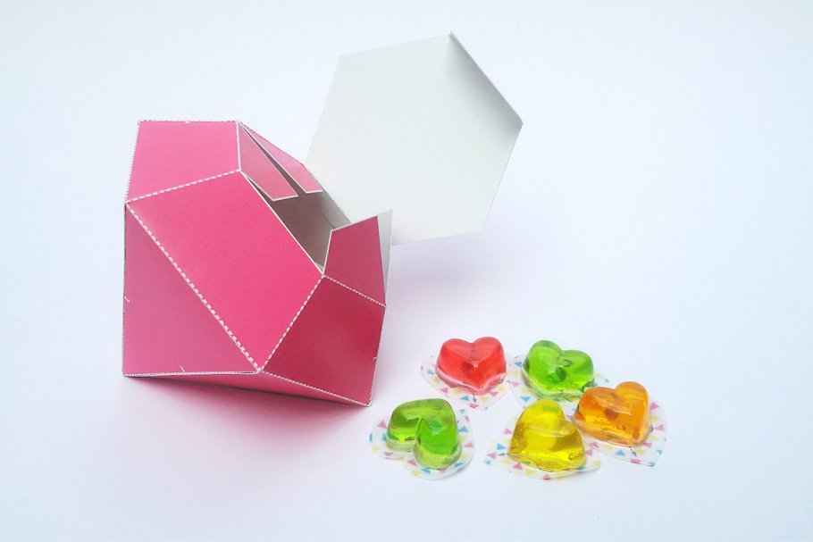 DIY Diamond Favor - 3d papercrafts