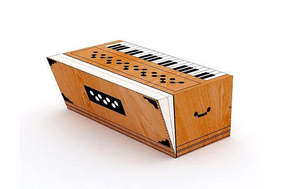 DIY Harmonium Favor - 3d papercrafts