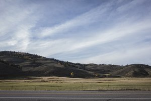 Road and hills in Colorado
