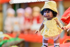 Doll at the market place