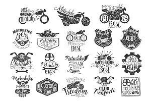 Motorbike Vintage Stamp