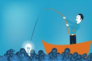 Business man fishing a good idea