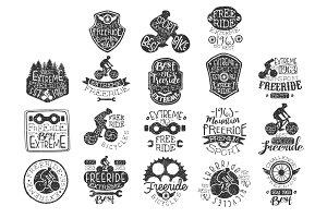 Freeride Bikes Vintage Stamp
