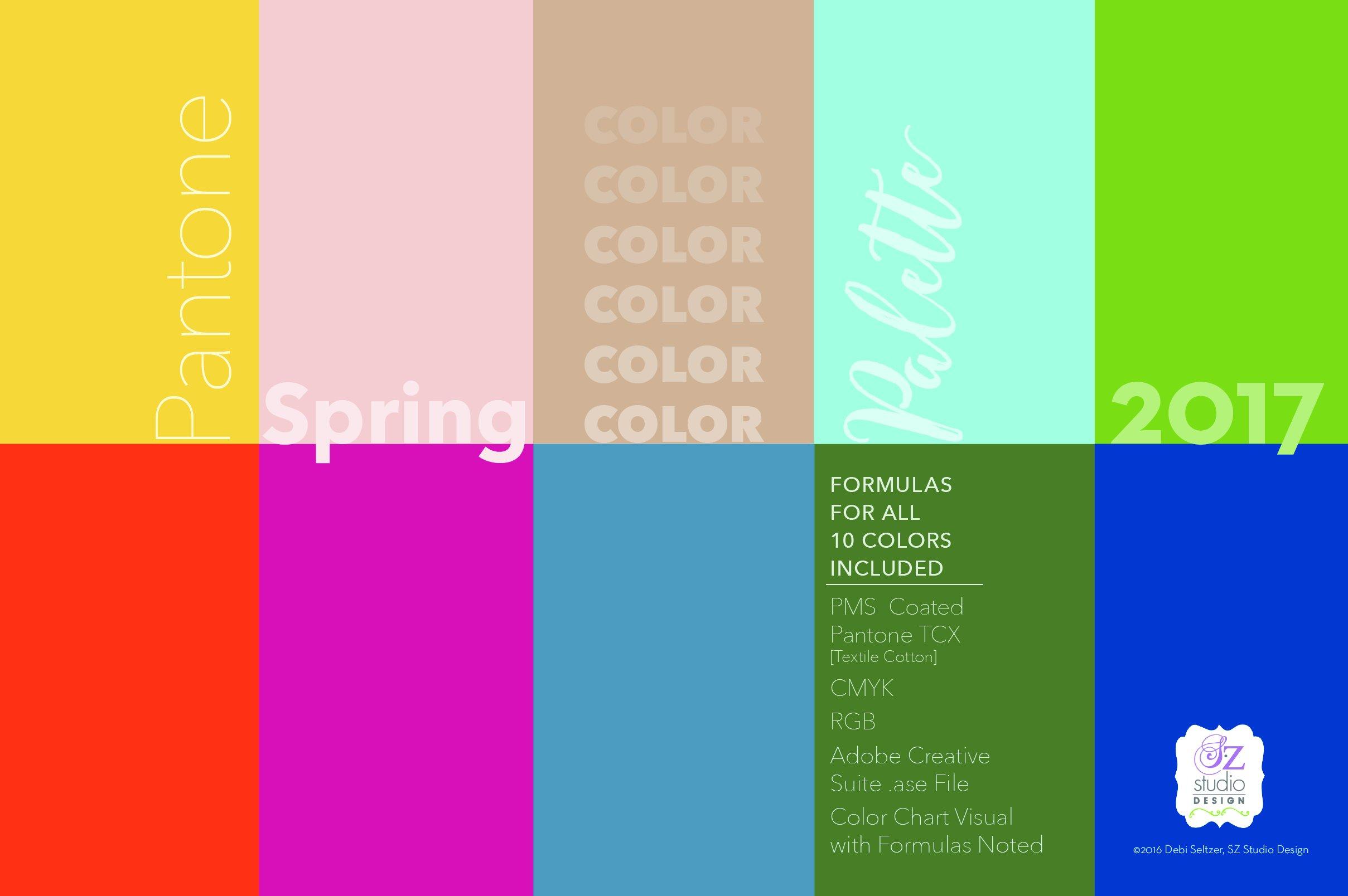 Pantone Spring 2017 Color Palette Color Palettes Creative Market
