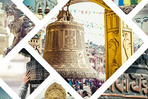 Collages of Nepal pictures