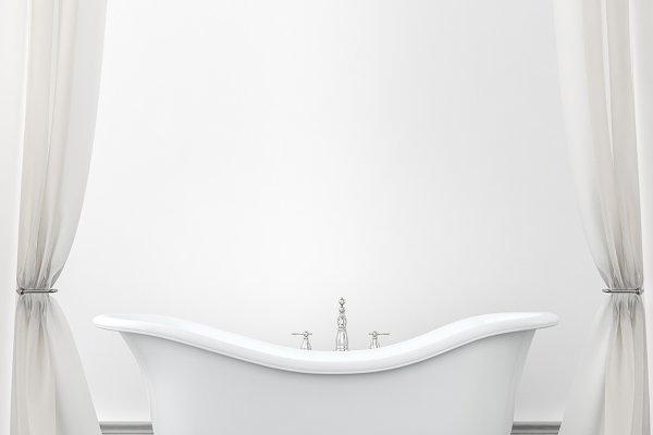Vintage bathroom background