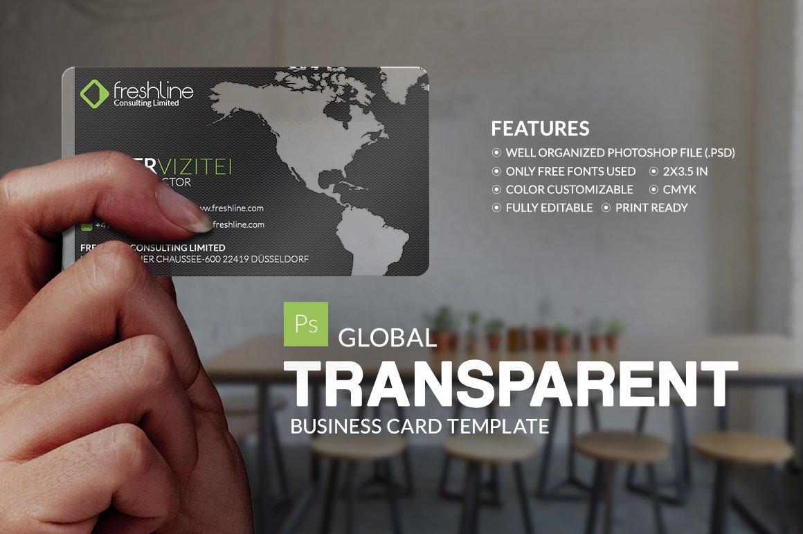 global transparent business card business card templates creative market - Transparent Business Cards