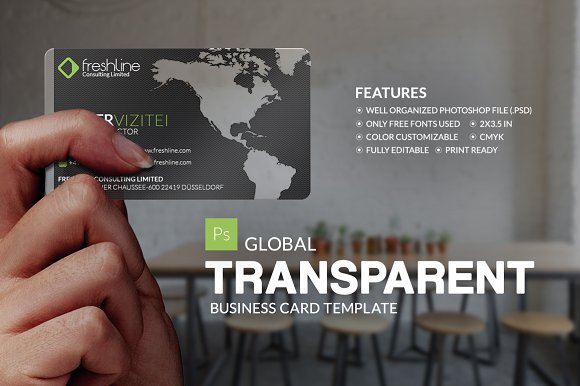 Global transparent business card business card templates global transparent business card business card templates creative market fbccfo Image collections