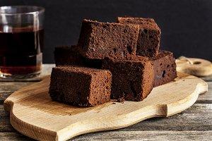 chocolate brownie with dark beer