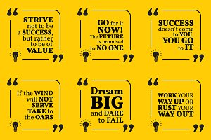 Nine motivational quotes. Set 7/55
