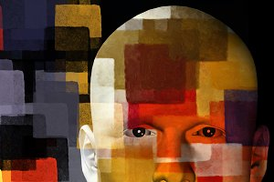 Man Colorful Squares