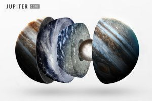 Jupiter inner structure. Elements of this image furnished by NASA
