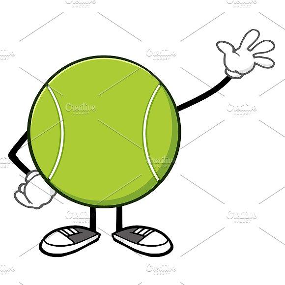 Tennis ball cartoon gallery diagram writing sample and guide tennis ball faceless waving illustrations creative market tennis ball faceless waving illustrations sciox gallery sciox Gallery