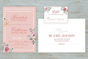 Vintage Floral Wedding Suite