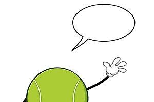 Tennis Ball Faceless Character