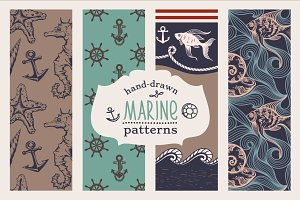 Marine Vintage Hand-drawn Patterns