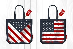 Vector eco bag US style