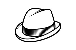 Mans Trilby Hat Icon