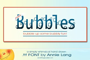 Annie's Bubbles Font