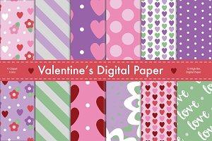 Valentine's Digital Paper