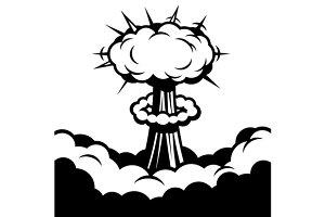 Comic Boom Icon. Explosion