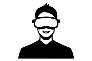 Virtual Reality Headset Icon Set