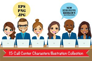 15 Call Center & Business Illust
